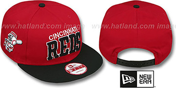 Reds CHENILLE-ARCH SNAPBACK Red-Black Hat by New Era