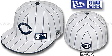 Reds FABULOUS White-Navy Fitted Hat by New Era
