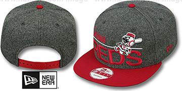 Reds 'FLANNEL SNAPBACK' Grey-Red Hat by New Era