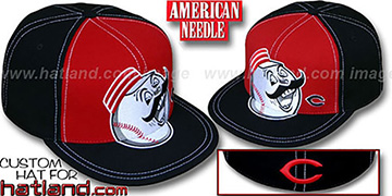 Reds GETTIN BIG Red-Black Fitted Hat by American Needle
