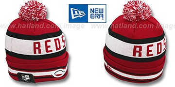 Reds 'JAKE-3' Red Knit Beanie Hat by New Era