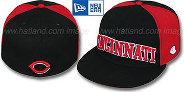 Reds 'JMACK ARCH' Black-Red Fitted Hat by New Era