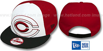 Reds 'LITTLE-BIG POP SNAPBACK' White-Red-Black Hat by New Era