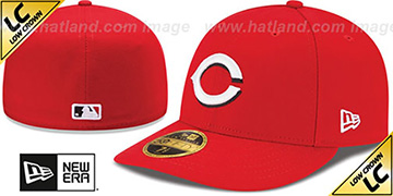 Reds '2017 LOW-CROWN ONFIELD HOME' Fitted Hat by New Era