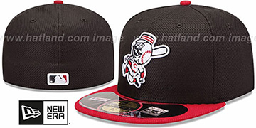 Reds 'MLB DIAMOND ERA' 59FIFTY Black-Red BP Hat by New Era