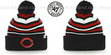 Reds MLB 'INCLINE' Knit Beanie Hat by 47 Brand