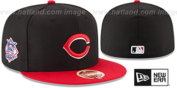 Reds 'MLB WOOL-STANDARD' Black-Red Fitted Hat by New Era