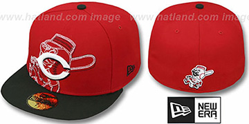 Reds NEW MIXIN Red-Black Fitted Hat by New Era
