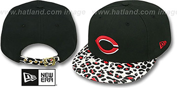 Reds OSTRICH-LEOPARD STRAPBACK Hat by New Era