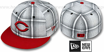 Reds 'PLAIDIE' Red Fitted Hat by New Era