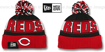 Reds 'REP-UR-TEAM' Knit Beanie Hat by New Era
