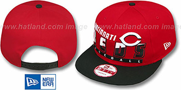 Reds SLICE-N-DICE SNAPBACK Red-Black Hat by New Era