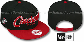 Reds 'SNAP-IT-BACK SNAPBACK' Black-Red Hat by New Era