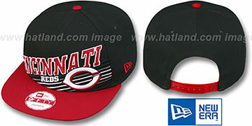 Reds STILL ANGLIN SNAPBACK Black-Red Hat by New Era