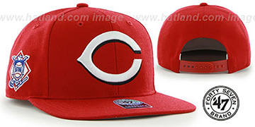 Reds 'SURE-SHOT SNAPBACK' Red Hat by Twins 47 Brand