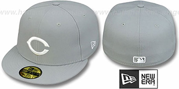 Reds 'TEAM-BASIC' Grey-White Fitted Hat by New Era