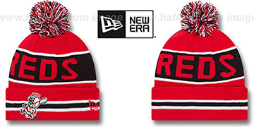 Reds 'THE-COACH' Red Knit Beanie Hat by New Era