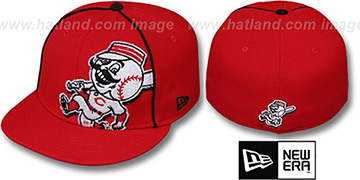 Reds 'TRIBULATOR' Red Fitted Hat by New Era