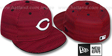 Reds 'TRIPPIN' Red-Black Fitted Hat by New Era