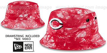 Reds TYE-DYE ZONE Bucket Hat by New Era
