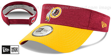 Redskins 18 NFL STADIUM Burgundy-Gold Visor by New Era