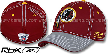 Redskins '2008-09 SIDELINE-2 FLEX' Burgundy-Grey Hat by Reebok