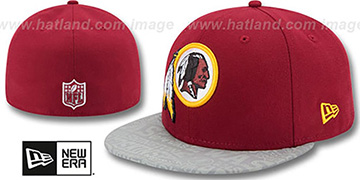 Redskins 2014 NFL DRAFT Burgundy Fitted Hat by New Era