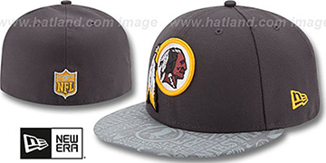 Redskins 2014 NFL DRAFT Grey Fitted Hat by New Era