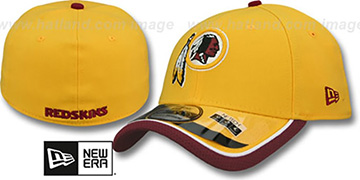 Redskins 2014 NFL STADIUM FLEX Gold Hat by New Era