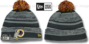 Redskins '2014 STADIUM' Grey-Grey Knit Beanie Hat by New Era