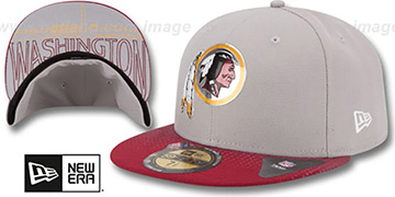 Redskins '2015 NFL DRAFT' Grey-Burgundy Fitted Hat by New Era