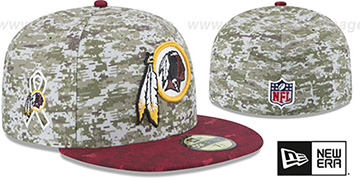 Redskins '2015 SALUTE-TO-SERVICE' Desert-Burgundy Fitted Hat by New Era