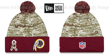 Redskins '2015 SALUTE-TO-SERVICE' Knit Beanie Hat by New Era