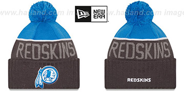 Redskins 2015 STADIUM Charcoal-Blue Knit Beanie Hat by New Era
