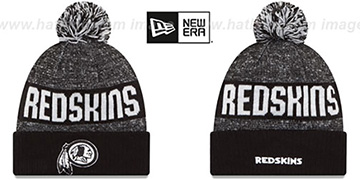 Redskins '2016 STADIUM' Black-White Knit Beanie Hat by New Era