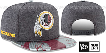Redskins 2017 NFL ONSTAGE SNAPBACK Charcoal Hat by New Era