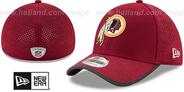 Redskins '2017 NFL TRAINING FLEX' Burgundy Hat by New Era