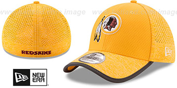 Redskins 2017 NFL TRAINING FLEX Gold Hat by New Era