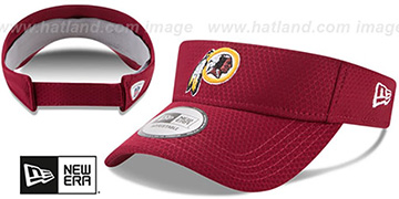 Redskins '2017 NFL TRAINING VISOR' Burgundy by New Era