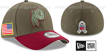 Redskins '2017 SALUTE-TO-SERVICE FLEX' Green-Burgundy Hat by New Era