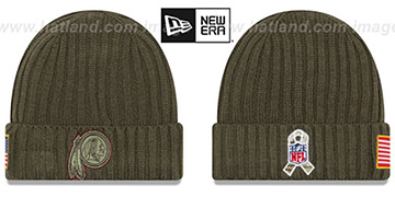 Redskins '2017 SALUTE-TO-SERVICE' Knit Beanie Hat by New Era