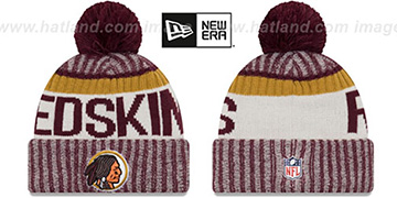 Redskins '2017 THROWBACK STADIUM BEANIE' Burgundy Knit Hat by New Era