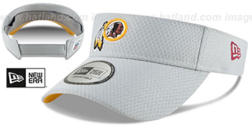Redskins '2018 NFL TRAINING VISOR' Grey by New Era