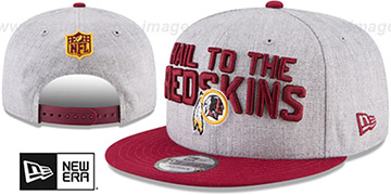 Redskins '2018 ONSTAGE SNAPBACK' Grey-Burgundy Hat by New Era