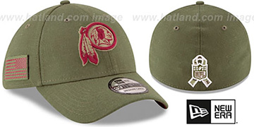 Redskins 2018 SALUTE-TO-SERVICE FLEX Olive Hat by New Era
