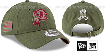 Redskins 2018 SALUTE-TO-SERVICE STRAPBACK Olive Hat by New Era