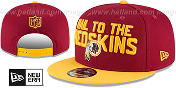 Redskins '2018 SPOTLIGHT SNAPBACK' Burgundy-Gold Hat by New Era