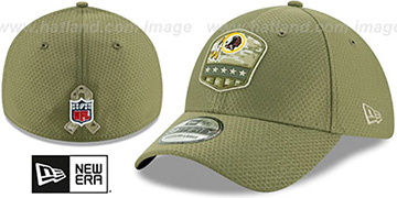 Redskins 2019 SALUTE-TO-SERVICE FLEX Olive Hat by New Era