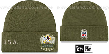 Redskins 2019 SALUTE-TO-SERVICE Knit Beanie Hat by New Era
