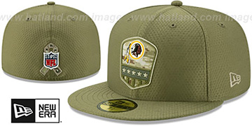 Redskins 2019 SALUTE-TO-SERVICE Olive Fitted Hat by New Era